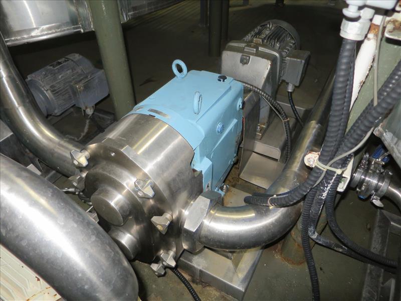 Waukesha CB Positive Pump, model 220-U1, 15 hp drive, s/n 1000002751097, (2012)