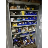 assorted Electrical Components, etc. & -door storage cabinet