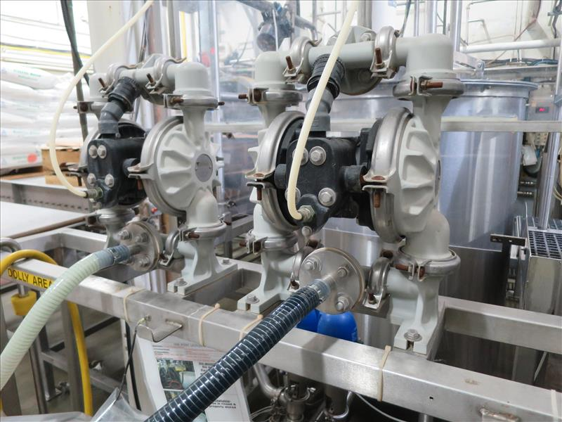 flavour pumping system, including (6) Sandpiper air-operated double diaphragm pumps, S/S pump stand, - Image 7 of 7