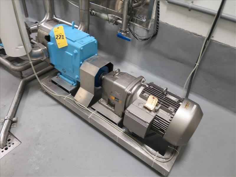 Waukesha Cherry-Burrell S/S rotary lobe positive displacement pump, model 220, ser. no. 278867-01,
