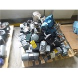 assorted spare motors & gear boxes, etc.