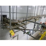 Empty Can Track , extending from depalletizer to filler, approx 70' plus with (2) empty can