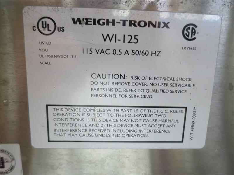 Lot 217 - Weigh-Tronix Platform Scale, model WI-125 (scale only, no products)