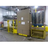 Mathews automatic full tray palletizer, c/w tray feed, top & bottom safety light curtains, safety