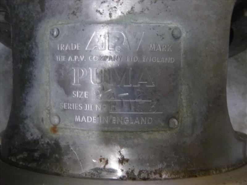Can Line rectangular CIP Tank, with (1) APV Puma 15 h.p. centrifugal pump, (1) centrifugal pump (I. - Image 6 of 6