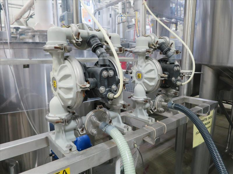 flavour pumping system, including (6) Sandpiper air-operated double diaphragm pumps, S/S pump stand, - Image 6 of 7