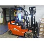 """Heli AC25 electric forklift truck, model CPD25, ser. no. 050251G8460, 4512 lbs. cap. @ 24"""" load"""