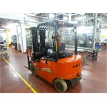 """Heli AC25 electric forklift truck, model CPD25, ser. no. 050251G8459, 4512 lbs. cap. @ 24"""" load"""