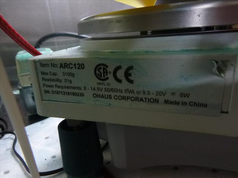 Ohaus Adventurer scale model ARC120, ser. no. D1871218160230, max. 3100 g - Image 2 of 2