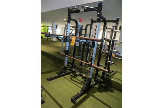 hammer strength power rack w 2 olympic barbells rusty pitman nj. Black Bedroom Furniture Sets. Home Design Ideas