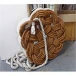 ROPE WORK WALL ART, contemporary bespoke, 105cm diam plus rope.