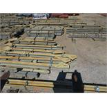 SMALLER LOT OF STRUCTURAL STEEL: BEAMS, HANDRAIL, BEAMS UP TO 654'' X 21'' X 20'' X 4'' AND