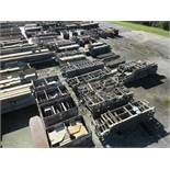 LARGE LOT OF STRUCTURAL STEEL: BEAMS, COLUMNS, HANDRAIL, PLATE, STAIRS, BEAMS UP TO 570'' X 39'' X