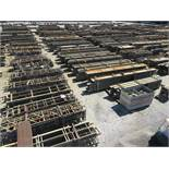LARGE LOT OF STRUCTURAL STEEL: BEAMS, HANDRAIL, STAIRS, BEAMS UP TO 534'' X 22'' X 20'' X 5'',