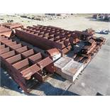 LARGE LOT OF STRUCTURAL STEEL; SOME INDIVIDUAL PIECE EXAMPLE WEIGHTS, 16,500 LB., 9,000 LB., 15,