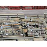 LARGE LOT OF STRUCTURAL STEEL: BEAMS, COLUMNS, HANDRAIL, STAIRS, BRACES, COLUMNS UP TO 406'' X