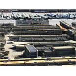 LARGE LOT OF STRUCTURAL STEEL: BEAMS, HANDRAIL, PLATE, STAIRS, BEAMS UP TO 379'' X 17'' X 16'' X