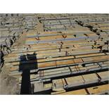LARGE LOT OF STRUCTURAL STEEL: BEAMS, COLUMNS, HANDRAIL, PLATE, BRACES, BEAMS UP TO 567'' X 14'' X