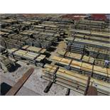 LARGE LOT OF STRUCTURAL STEEL: CONSISTS MOSTLY OF 1 1/2'' THICK OR LESS STEEL BEAMS, VARIOUS