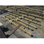 LARGE LOT OF STRUCTURAL STEEL: BEAMS, GIRDERS, BEAMS UP TO 606'' X 22'' X 20'' X 4 1/2'', (GREEN