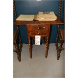Antique Table Stand w/Storage