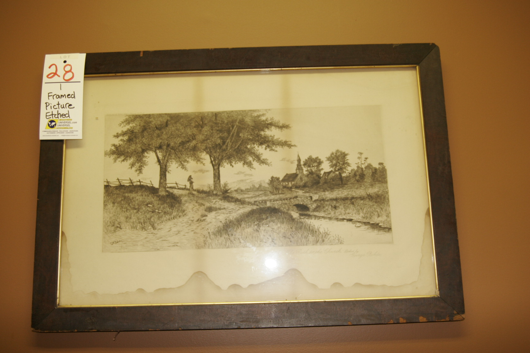 Framed Picture Etched