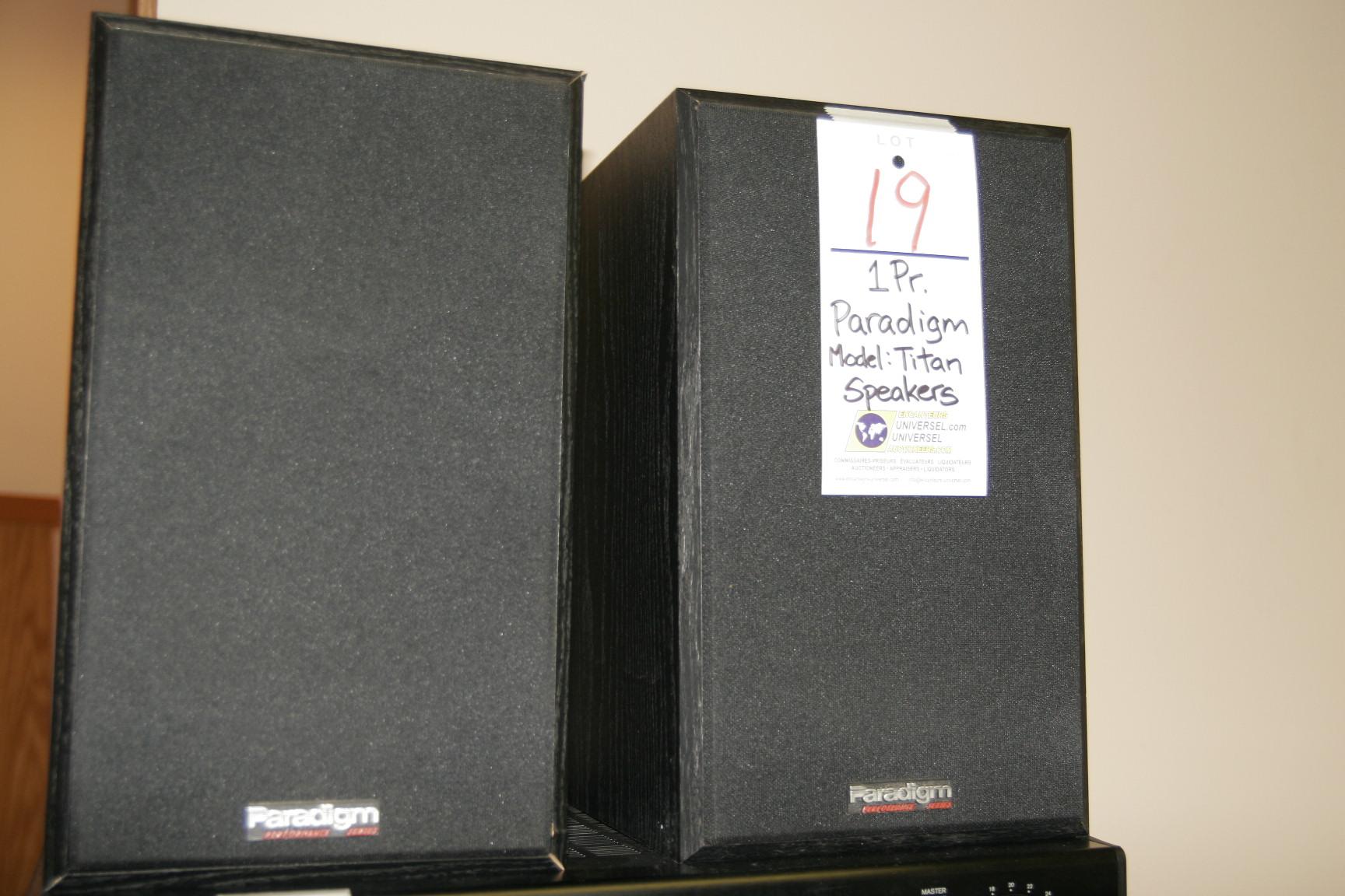Paradigm Model:Titan Speakers(Pair)