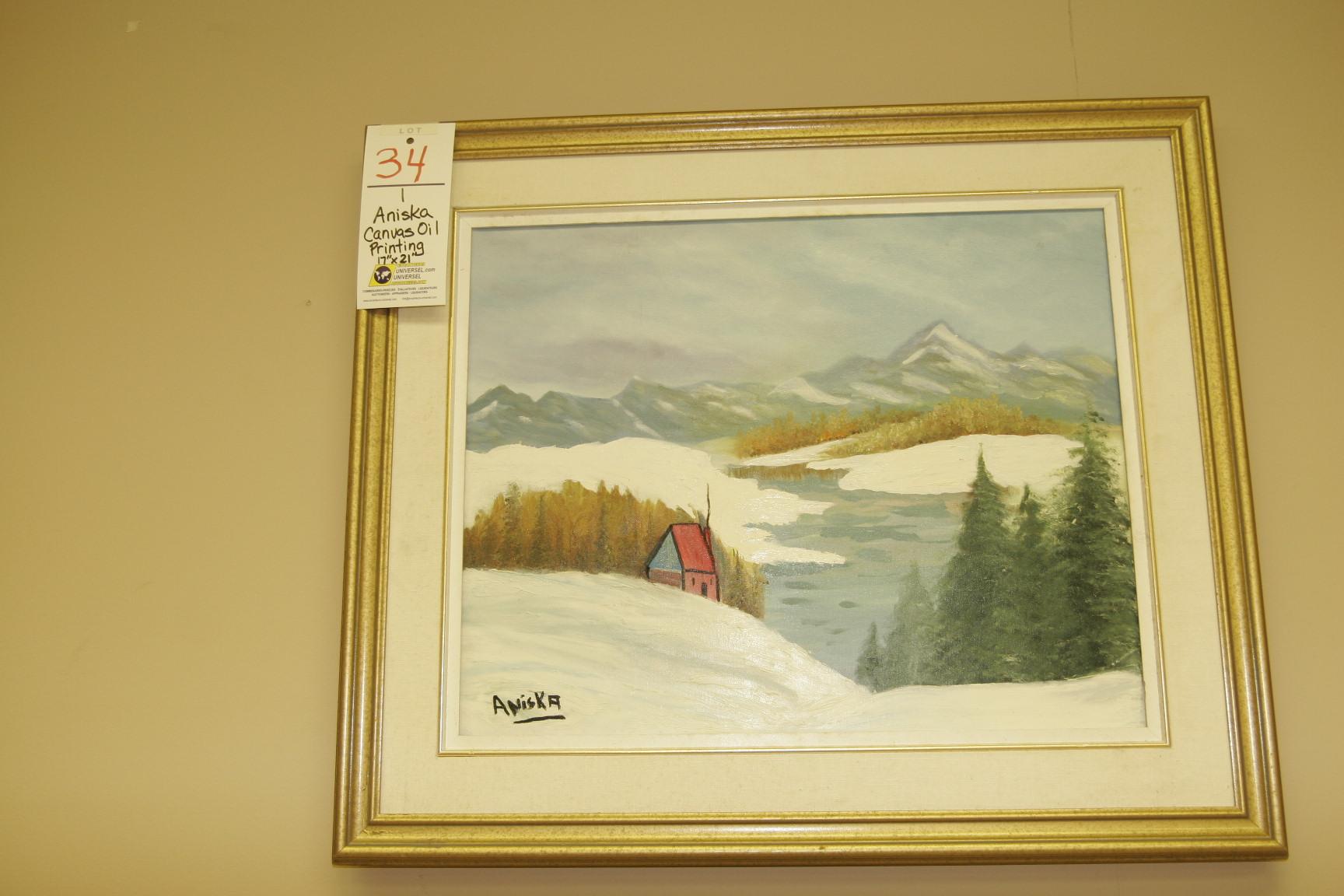 """Aniska Canvas Oil Painting 17""""x21"""""""