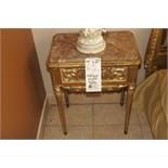 Antique Night Table,24K Gold Leaf