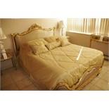"""Antique 24K Gold Leaf 54"""" Bed"""