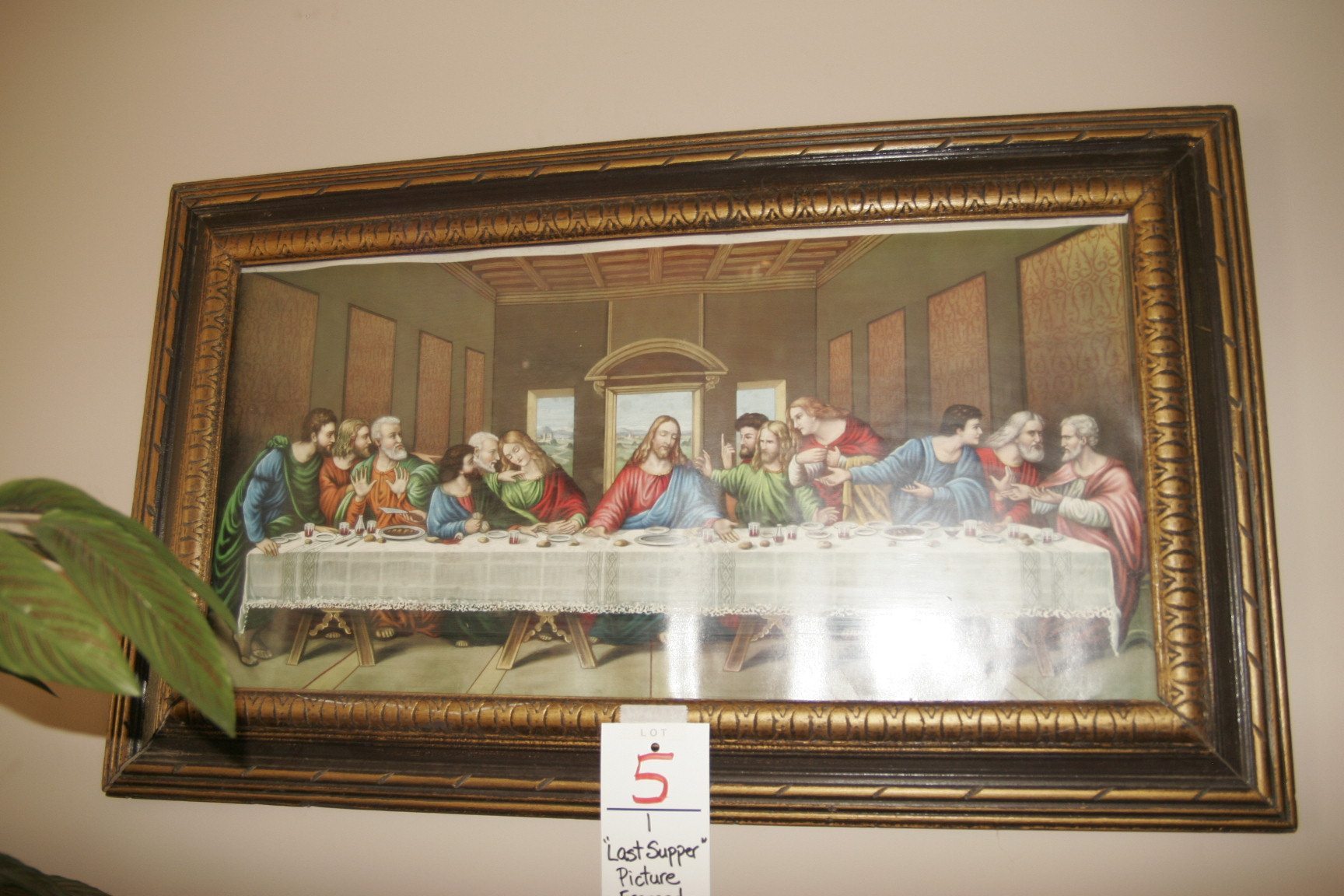 """""""Last Supper"""" Picture Framed"""
