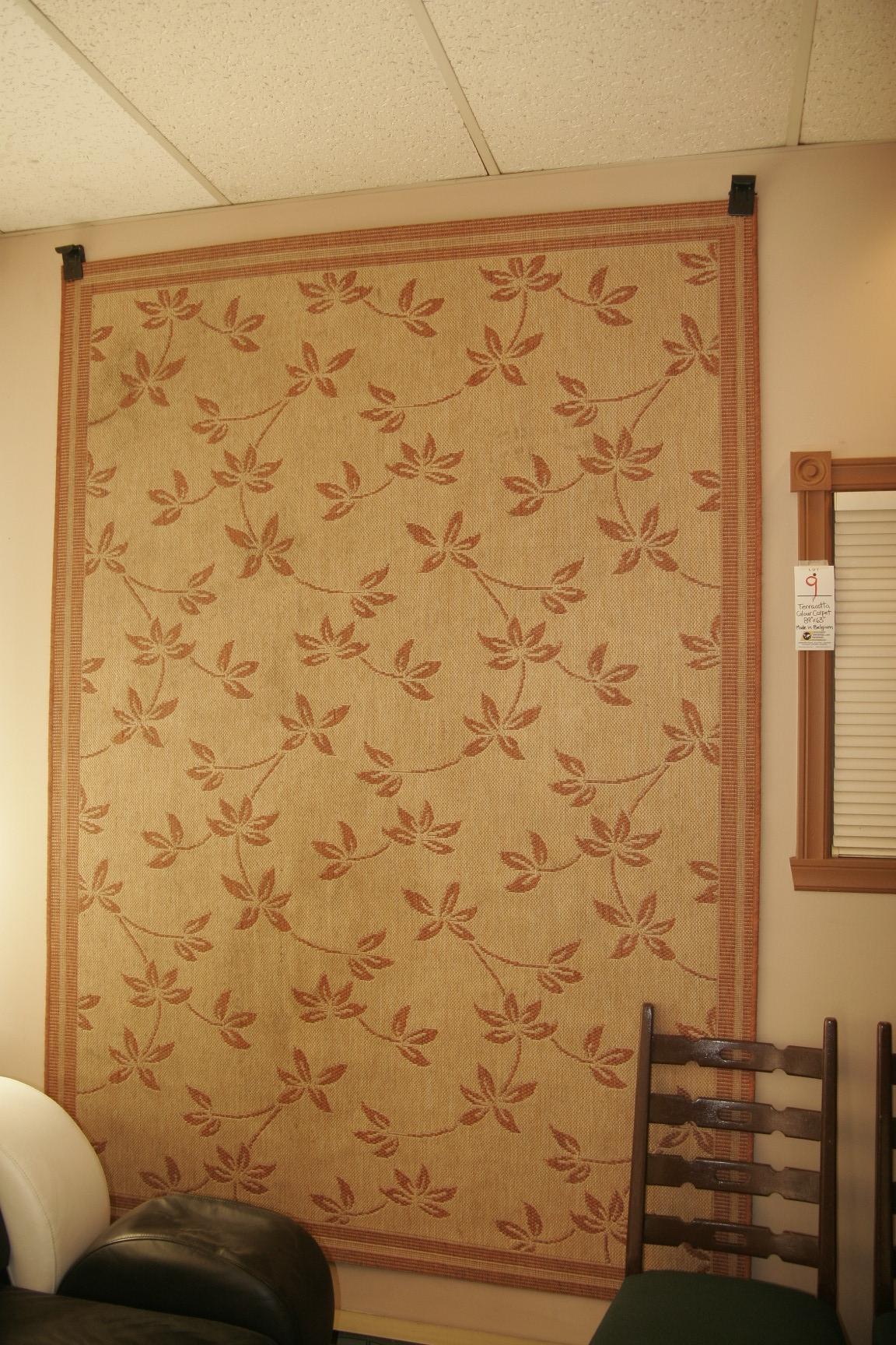 """Terracotta Colour Carpet 89""""x63"""""""