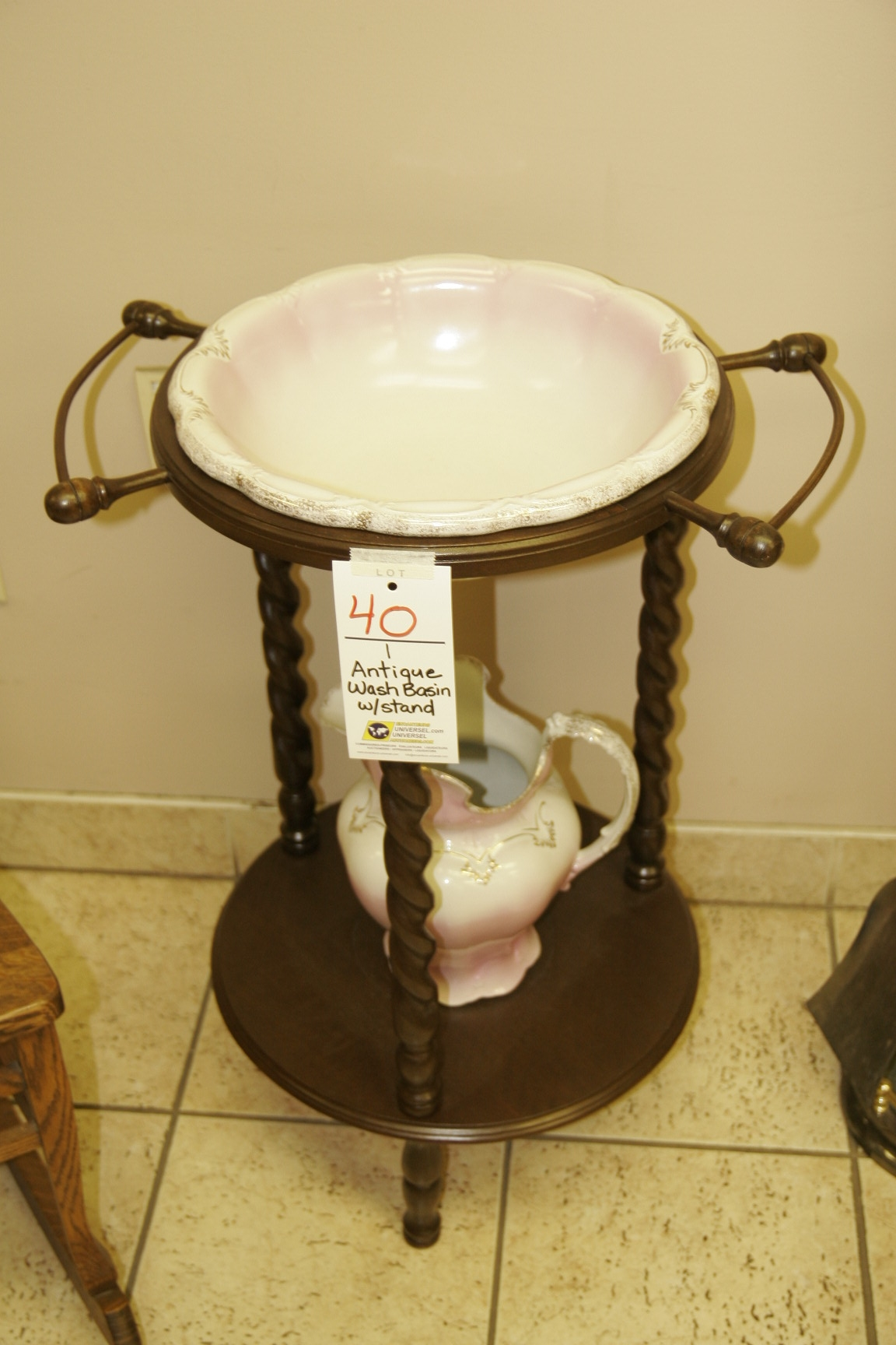 Antique Wash Basin w/Stand