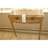 Antique Table,24K Gold Leaf
