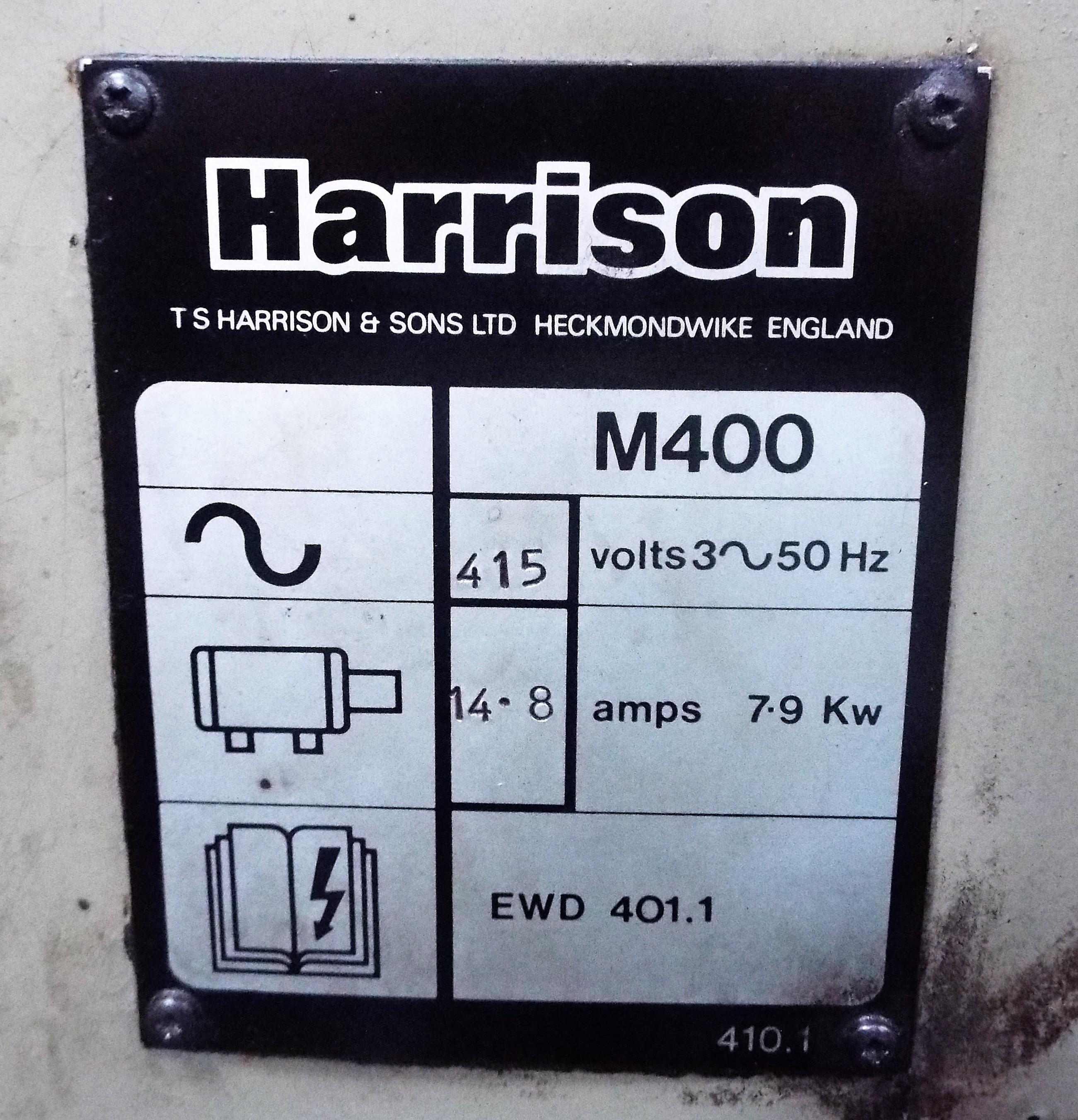 Lot 4 - Harrison M400 Centre Lathe