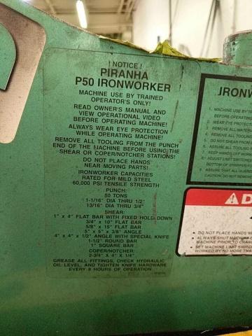 Piranha P50 Hydraulic Ironworker - Image 2 of 7