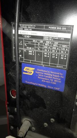 Lincoln Power Mig 255 Mig Welder - Image 3 of 4