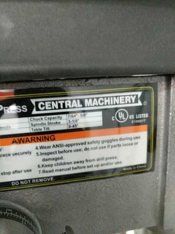 Central Machinery #38144 - Image 3 of 5