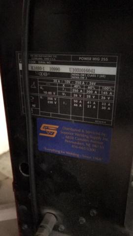 Lincoln Power Mig 255 Mig Welder - Image 4 of 4