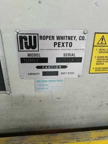 Lot 104 - Roper Whitney Pexto 10M10 Mechanical Power Shear