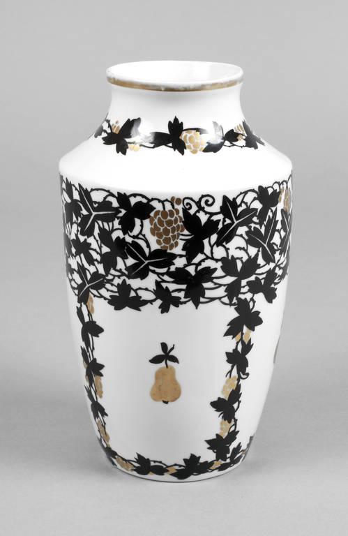 sch nwald vase um 1920 schwarze stempelmarke mit schriftzug handmalerei dekornr 9307 male. Black Bedroom Furniture Sets. Home Design Ideas