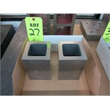"LOT OF (2) 6"" X 8"" X 6"" GAGE BLOCKS"