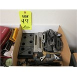 LOT OF CLAMPS, STEP BLOCKS, AND HOLD DOWN BOLT