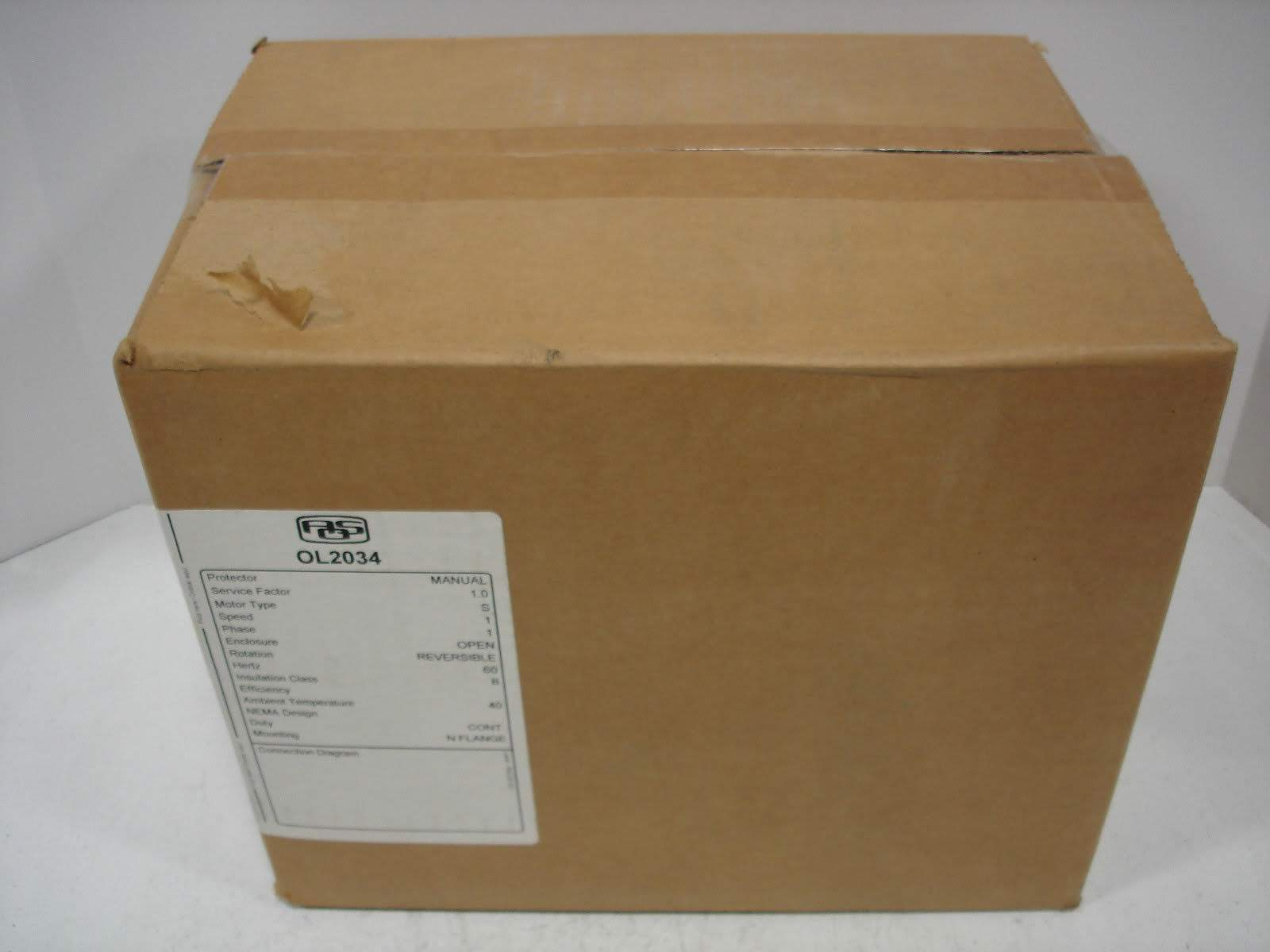Lot 19 - (1) *NIB* AO SMITH OL2034 ELECTRIC MOTOR HP1/3 VOLTS115 AMPS4.3 RPM1725 *NIB*; (1) *NIB* CENTURY