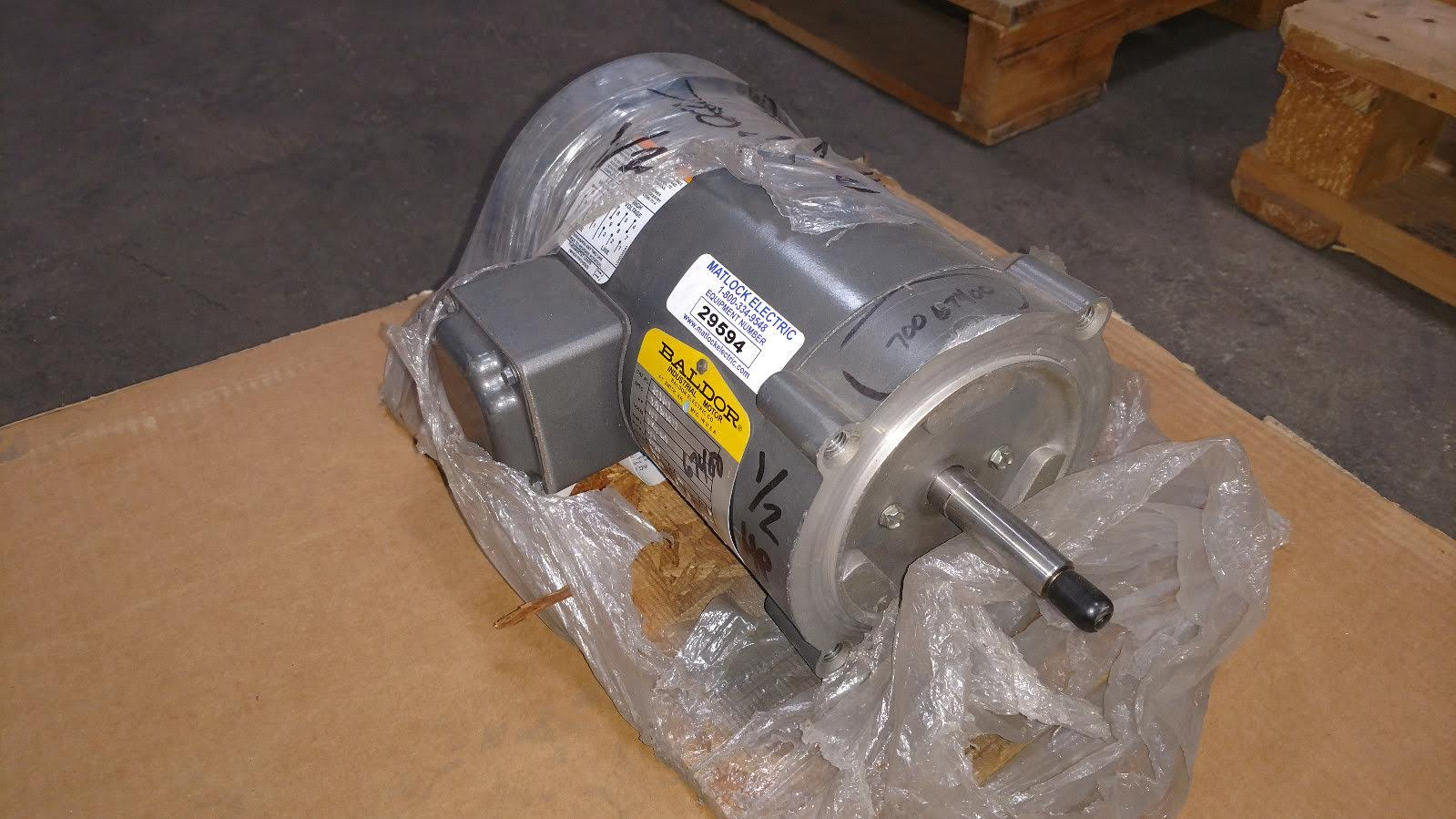 Lot 45 - (1) *NEW* Baldor Industrial Motor 1/2HP 1725RPM 230/460V 34K36-872 *NEW*