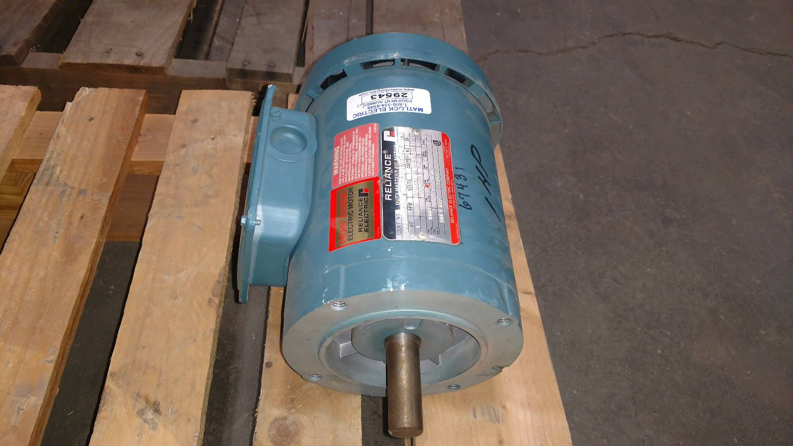 Lot 40 - (1) *USED* Reliance P14H1448R-YS Duty Master AC Motor 1HP 1725RPM 3PH *USED*