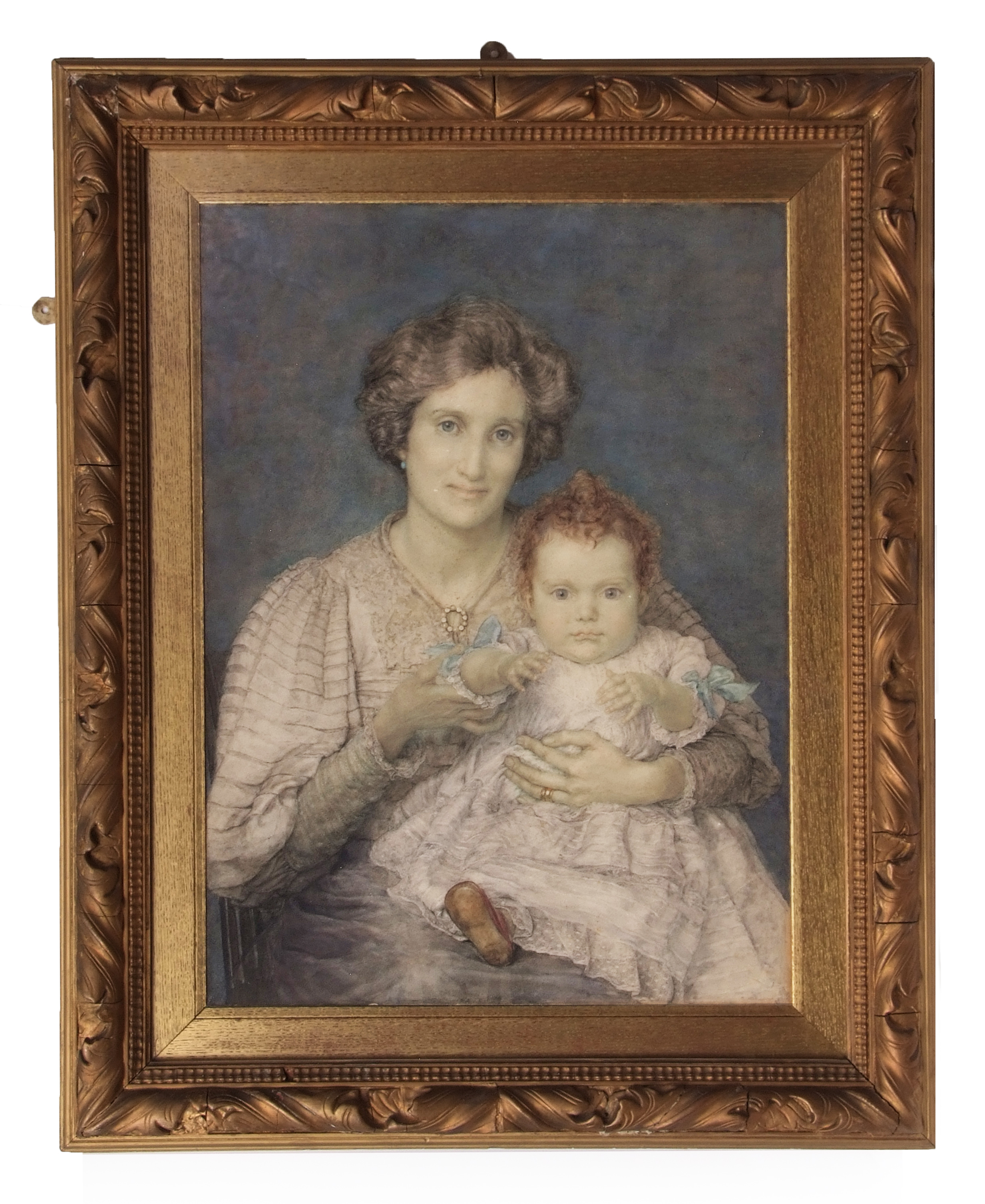 "Lot 1241 - ANNA ALMA TADEMA (1867-1943) ""Baby's Throne"" watercolour 73 x 52cms together with an album"
