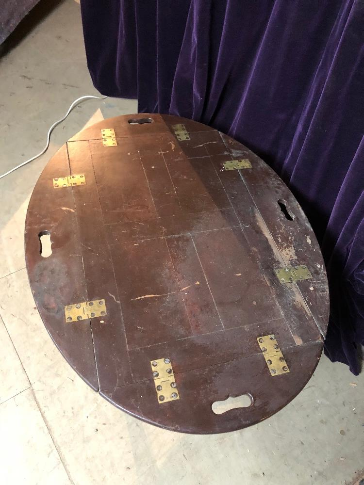 Lot 5 - 19th cent campaign table