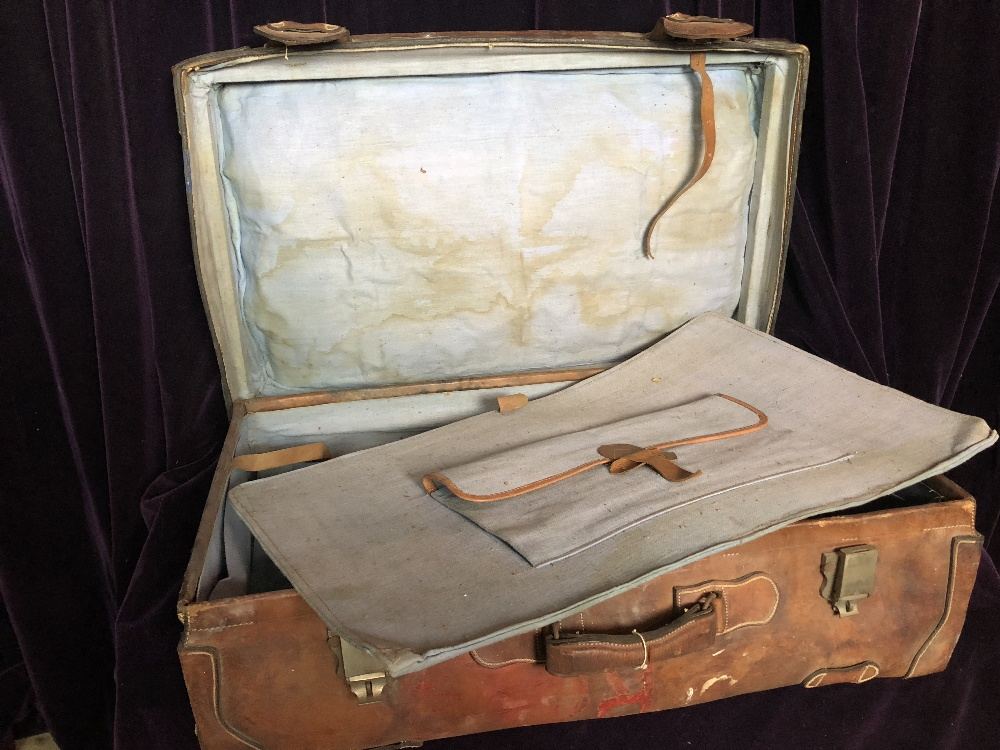 Leather suit case - Image 3 of 3
