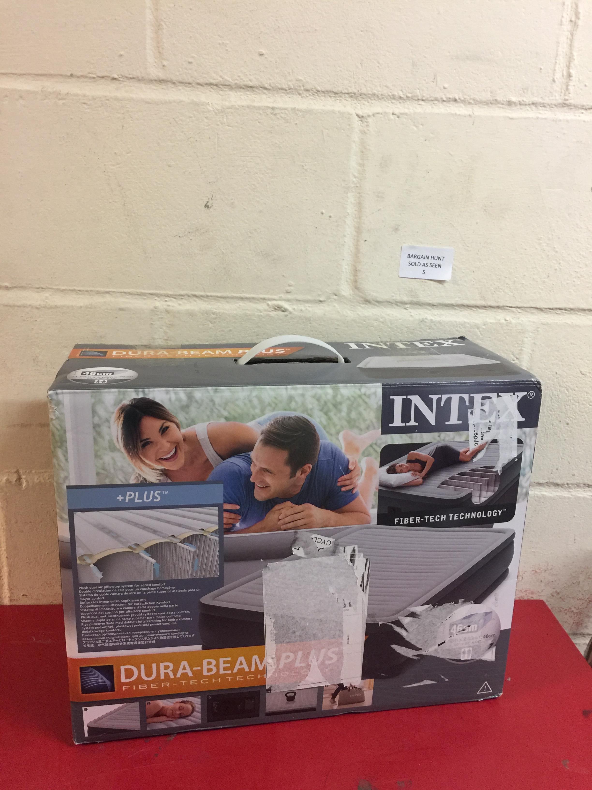 Lot 5 - Intex Unisex's Queen Dura Beam Series Elevated Airbed RRP £64.99